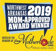 Mom Approved award winner block graphic
